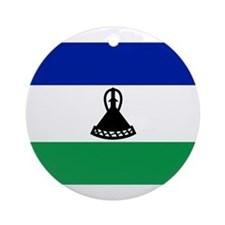 Lesotho Flag Ornament (Round)