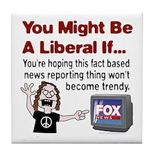 Angry with Fox News Tile Coaster