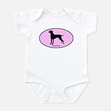 Weimeraner (oval-pink) Infant Bodysuit