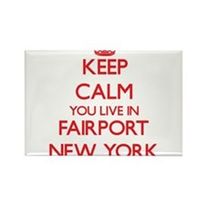 Keep calm you live in Fairport New York Magnets