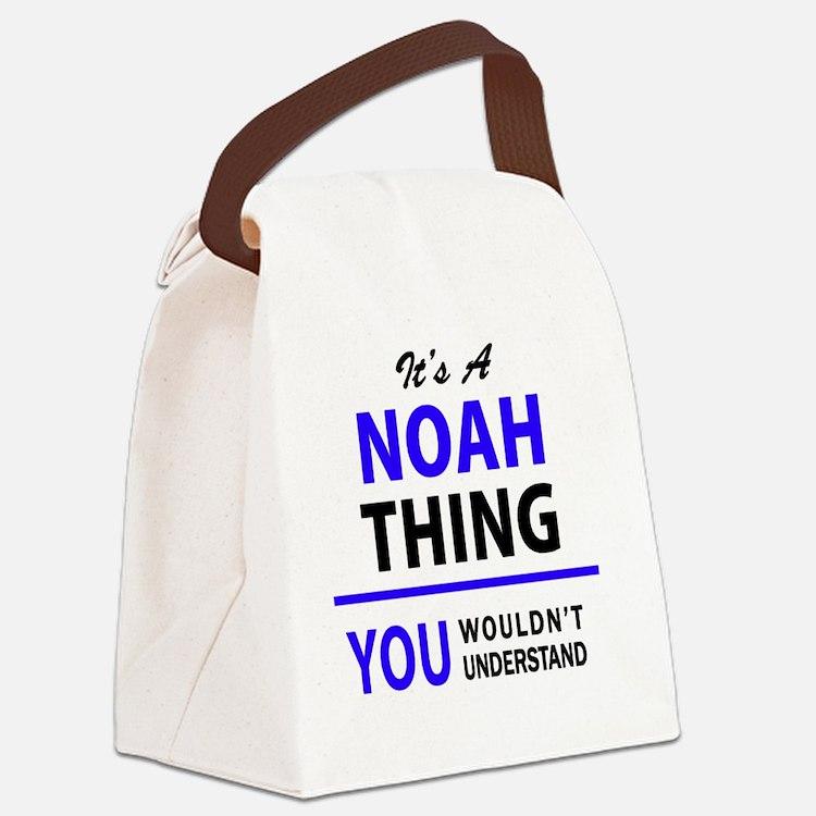 Cute Noah Canvas Lunch Bag