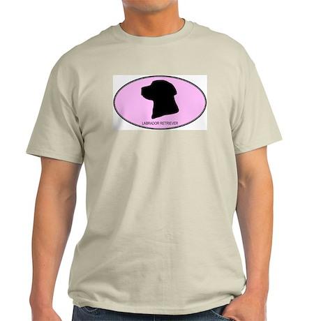 Labrador Retriever (oval-pink Light T-Shirt