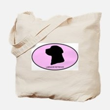 Labrador Retriever (oval-pink Tote Bag