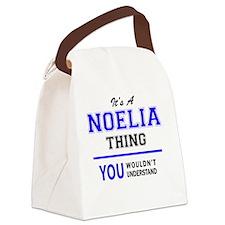 Cute Noelia Canvas Lunch Bag
