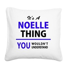 Unique Noelle Square Canvas Pillow