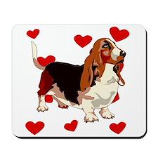 Basset Hound Love Mousepad