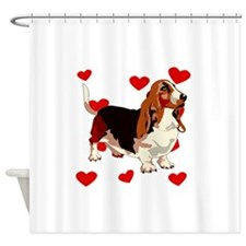 Basset Hound Love Shower Curtain