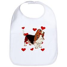 Basset Hound Love Bib