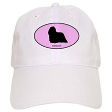 Komondor (oval-pink) Baseball Cap