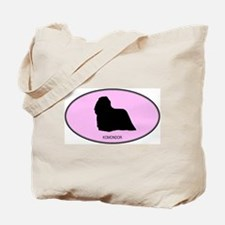 Komondor (oval-pink) Tote Bag