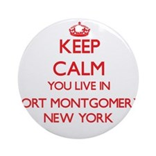 Keep calm you live in Fort Montgo Ornament (Round)