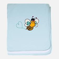BEE MAKING HEART baby blanket