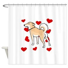 Shiba Inu Love Shower Curtain