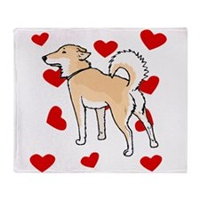 Shiba Inu Love Throw Blanket