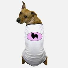 Keeshound (oval-pink) Dog T-Shirt