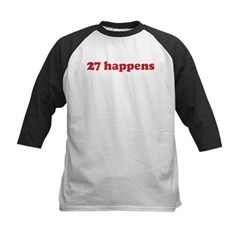 27 happens (red) Kids Baseball Jersey