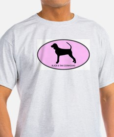 Black and Tan Coonhound (oval T-Shirt