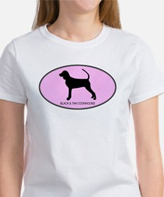 Black and Tan Coonhound (oval Tee