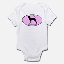 Black and Tan Coonhound (oval Infant Bodysuit