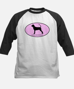 Black and Tan Coonhound (oval Kids Baseball Jersey