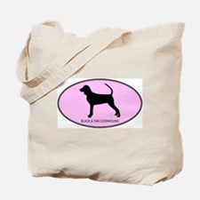 Black and Tan Coonhound (oval Tote Bag