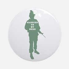 Married to my Hero Ornament (Round)