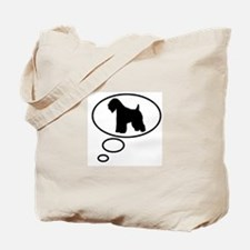 Thinking of Soft Coated Wheat Tote Bag