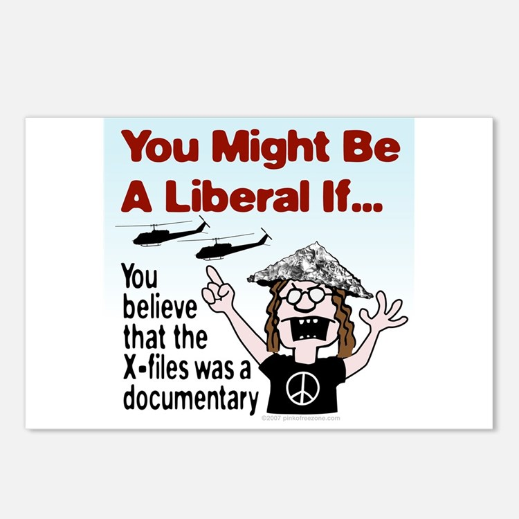 Liberal Paranoid Delusions Postcards (Package of 8