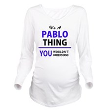 Funny Pablo Long Sleeve Maternity T-Shirt