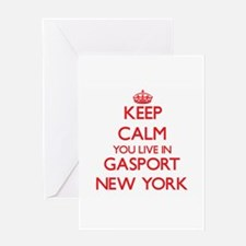 Keep calm you live in Gasport New Y Greeting Cards