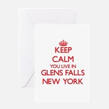 Keep calm you live in Glens Falls N Greeting Cards