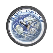 One World - Learn to Share Wall Clock