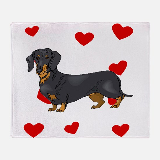 Dachshund Love Throw Blanket