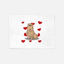 Shar Pei Love 5'x7'Area Rug