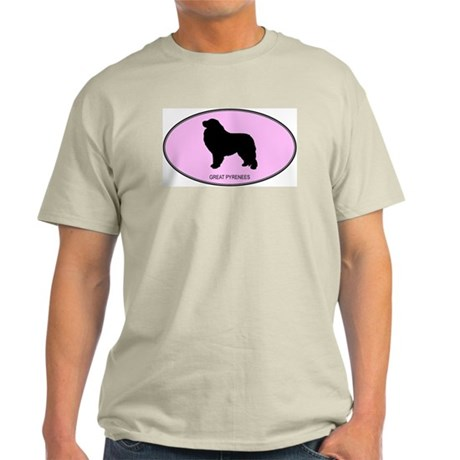 Great Pyrenees (oval-pink) Light T-Shirt