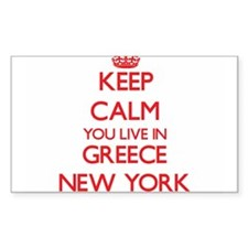 Keep calm you live in Greece New York Decal