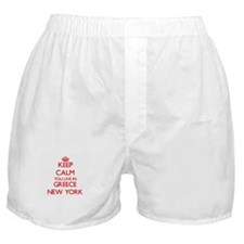 Keep calm you live in Greece New York Boxer Shorts