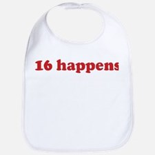 16 happens (red) Bib