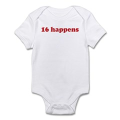16 happens (red) Infant Bodysuit