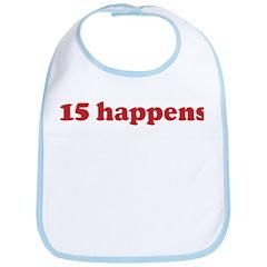 15 happens (red) Bib