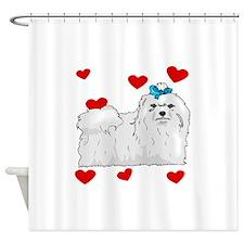 Maltese Love Shower Curtain
