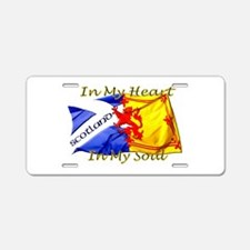 Heart and soul Scotland twi Aluminum License Plate