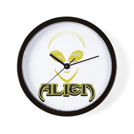 New Alien Yellow 2 Wall Clock