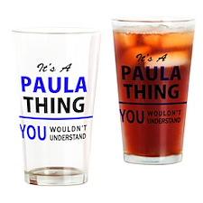 Funny Paula Drinking Glass