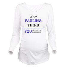 Cute Paulina Long Sleeve Maternity T-Shirt