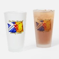 Heart and soul Scotland twin Drinking Glass