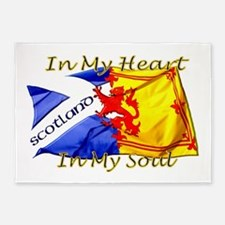 Heart and soul Scotland twin 5'x7'Area Rug