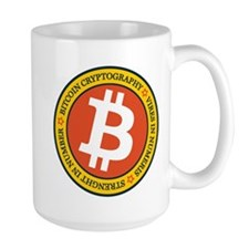 Full Color Bitcoin Logo with Motto Mugs