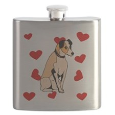 Parson Russell Terrier Love Flask