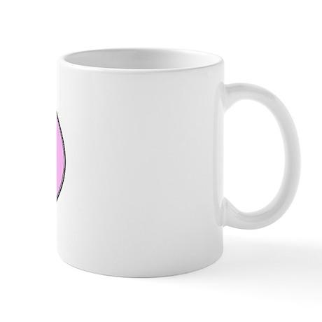 French Bulldog (oval-pink) Mug